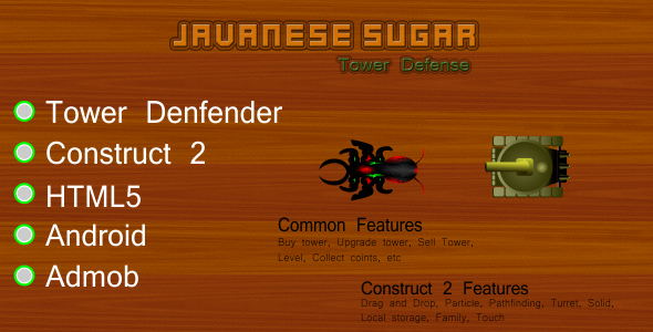 Javanese Sugar Tower Defense - CodeCanyon Item for Sale