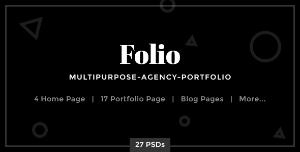 Folio – Multipurpose-Agency-Portfolio PSD Template