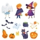 Kids In Halloween Costumes Vector - GraphicRiver Item for Sale