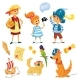 Kids And Animals Dressed Like Pirates. - GraphicRiver Item for Sale