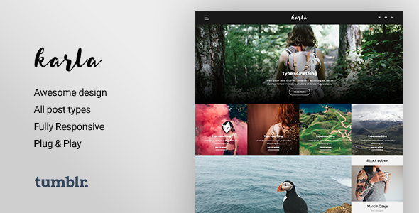 Karla - Stunning Personal Blog Theme for Tumblr