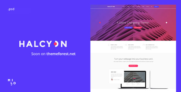 Halcyon - Multipurpose Modern Website PSD Template