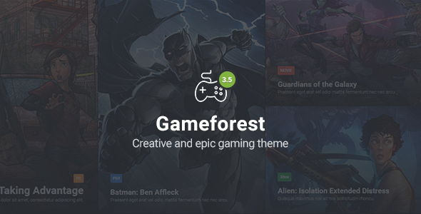 Gameforest - Gaming Theme HTML - Creative Site Templates