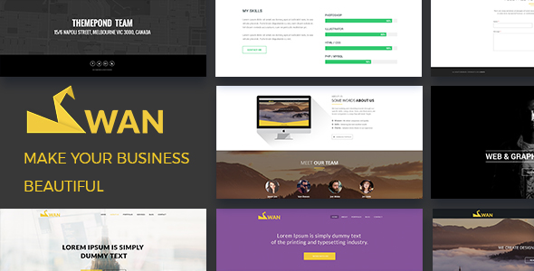 Attractive Preview_swan/01_banner ... Intended Company Portfolio Template