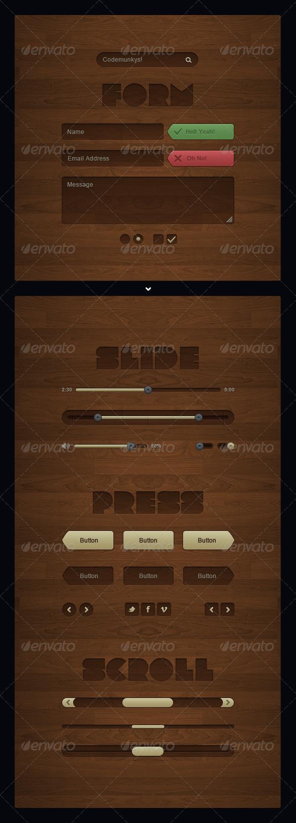 Wild Wood UI Kit - User Interfaces Web Elements