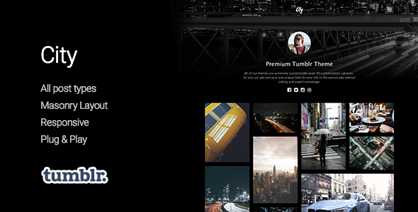 City | High Quality Portfolio Tumblr Theme