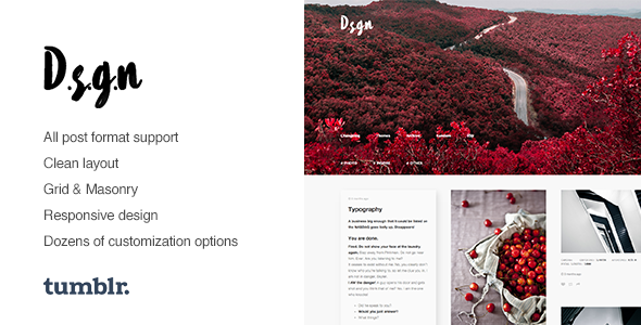 D.S.G.N | Grid-Based, Gallery Tumblr Theme