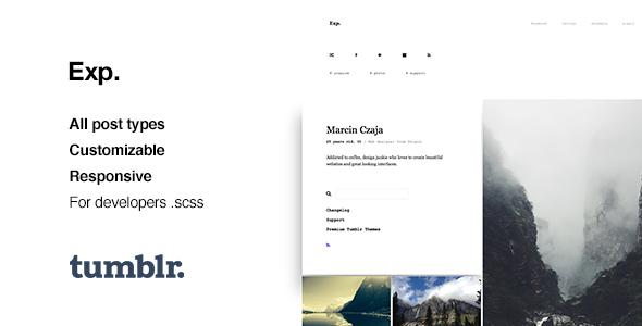 Exp – Minimalist Portfolio Tumblr Theme