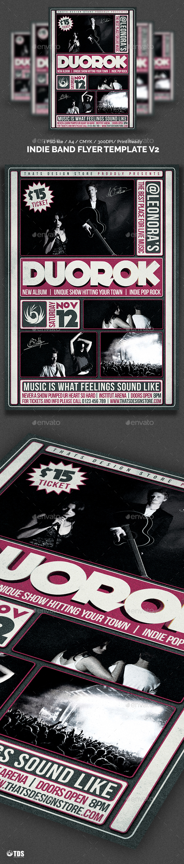 Indie Band Flyer Template V2   Concerts Events