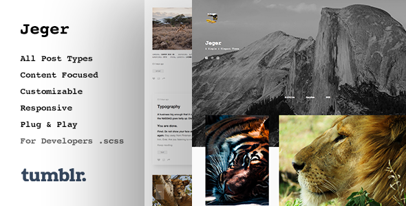Jeger | Responsive Portfolio Tumblr Theme - Blog Tumblr