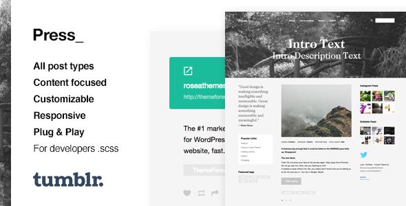 Press | Premium Blogging Tumblr Theme