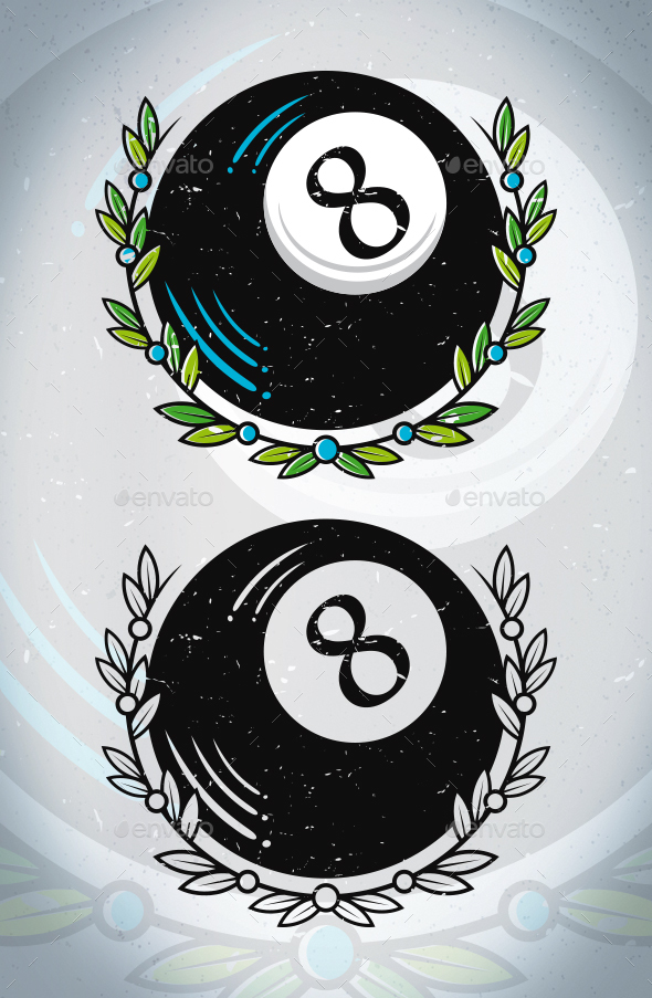 8 ball tattoo vector by bosstwinsmusic graphicriver. Black Bedroom Furniture Sets. Home Design Ideas