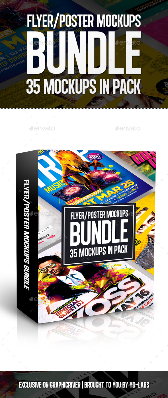 Flyer poster mockups bundle by ydlabs graphicriver flyer poster mockups bundle reheart Images