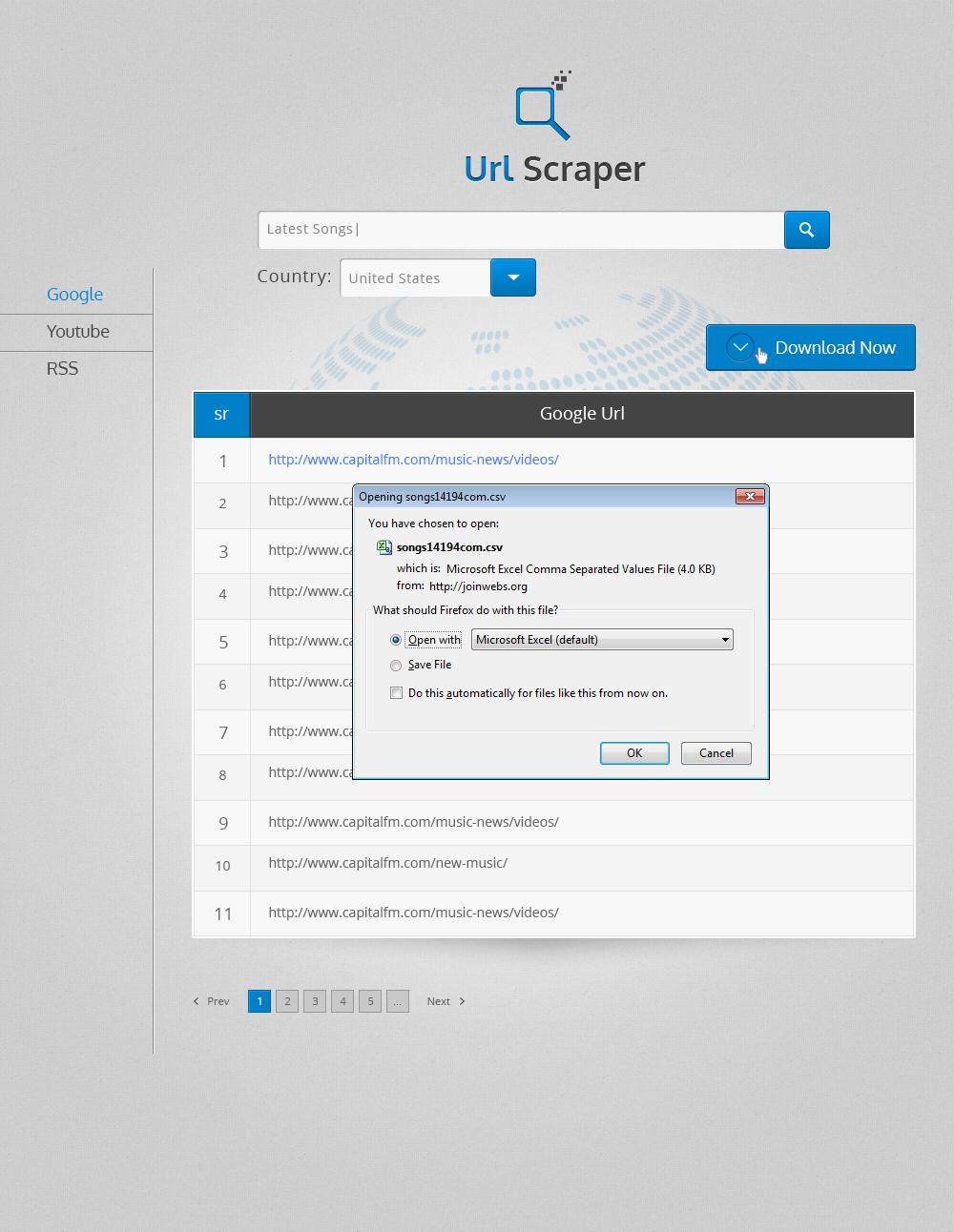 URL Scraper