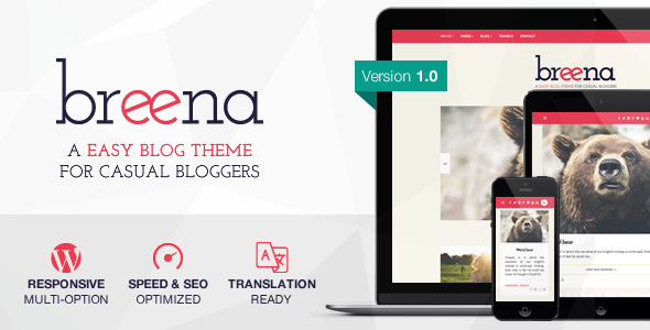Breena – A Responsive WordPress Blog Theme