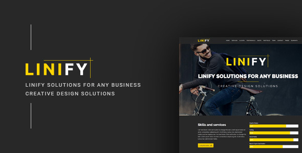 Linify – Multipurpose / Creative / Business / Corporate / Agency / Portfolio WordPress Theme