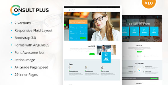 Consult Plus – Corporate Business HTML5 Template