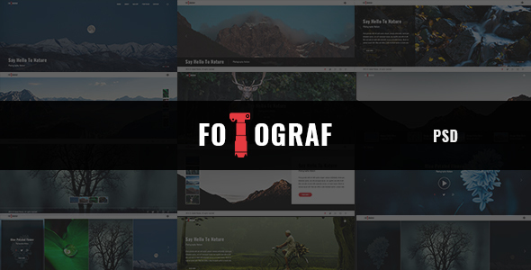 Fotograph - Portfolio and Photography PSD Template