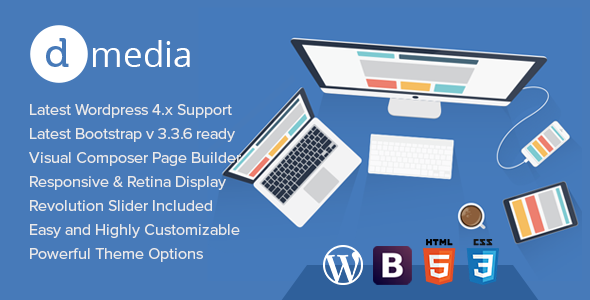 dMedia - Creative Multipurpose WordPress Theme
