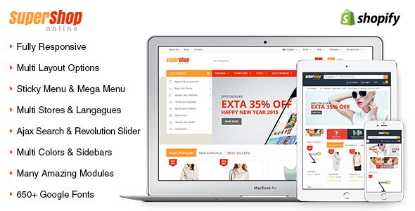 SuperShop – Multipurpose Responsive Shopify Theme