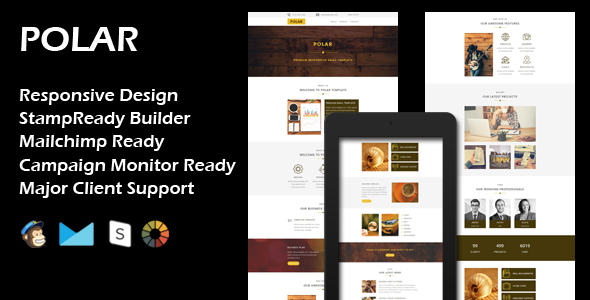 POLAR – Multipurpose Responsive Email Template + Stamp Ready Builder