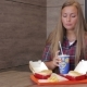 Girl Eating Fast Food - VideoHive Item for Sale