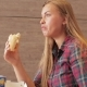 Beautiful Girl Eating Fast Food - VideoHive Item for Sale