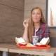 Woman Eating Fast Food - VideoHive Item for Sale