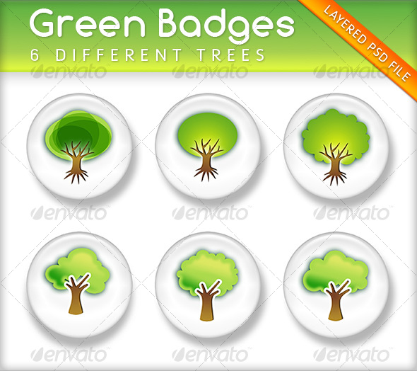 Green Badges - Miscellaneous Web Elements
