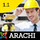 Arachi - Construction, Corporate Business Joomla 3 Responsive Templates Nulled