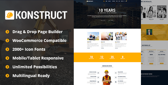 Konstruct - Construction, Building, Industrial WP Theme