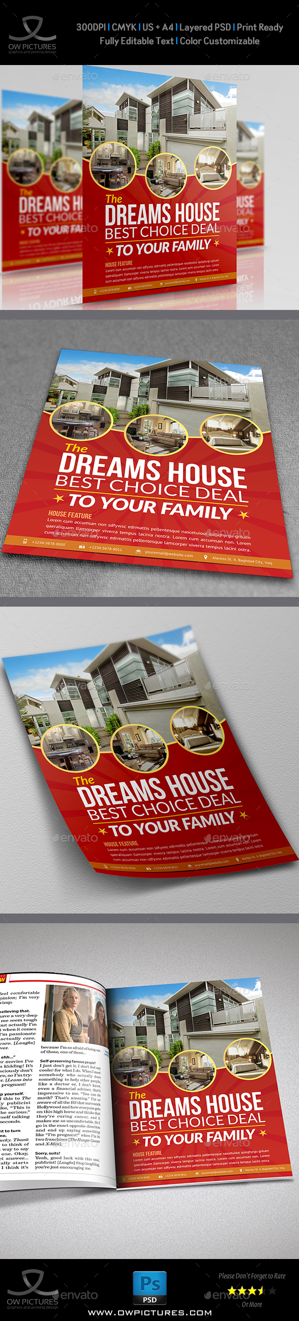 Real Estate Flyer Template Vol.8 - Commerce Flyers