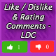 Like Dislike & Rating Comments - LDC