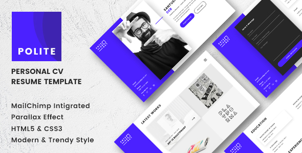 Polite – Multipage CV/Resume Template