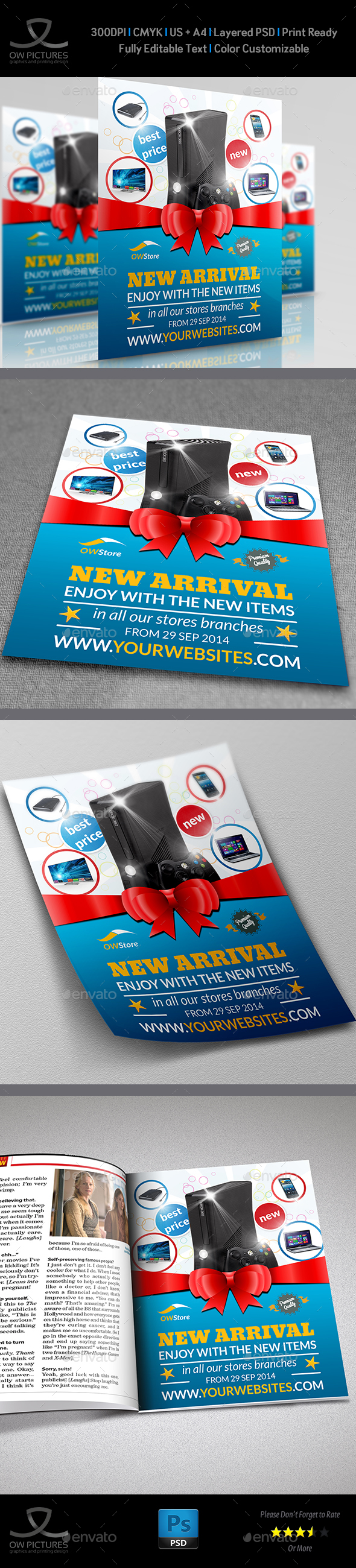 New Arrival Flyer Template Vol.2 - Commerce Flyers