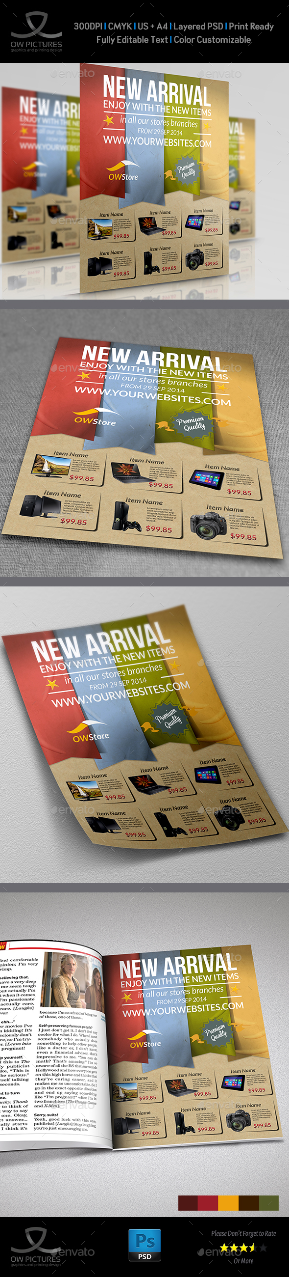 New Arrival Products Flyer Template - Commerce Flyers