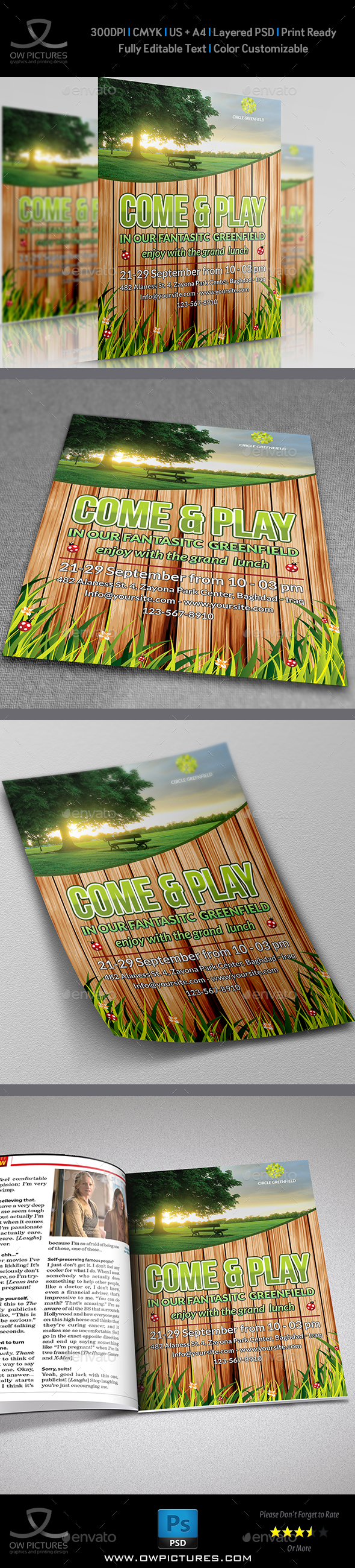 Greenfield Flyer Template - Events Flyers