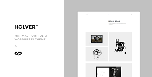 Holver – Minimal Portfolio WordPress Theme