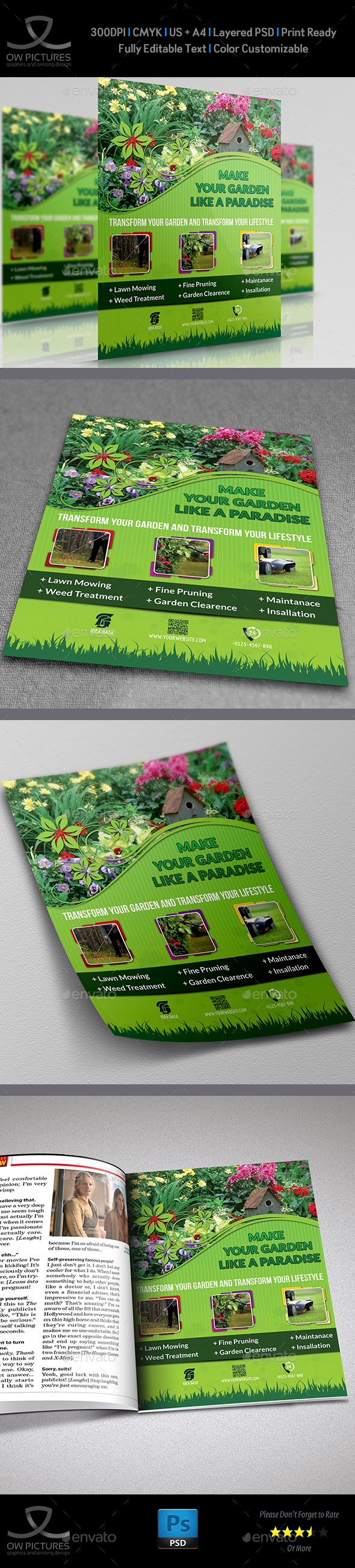 Garden Services Flyer Template - Commerce Flyers