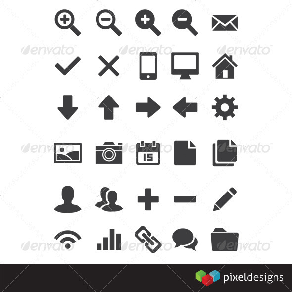 30 Basic Webdesign Icon - Web Icons