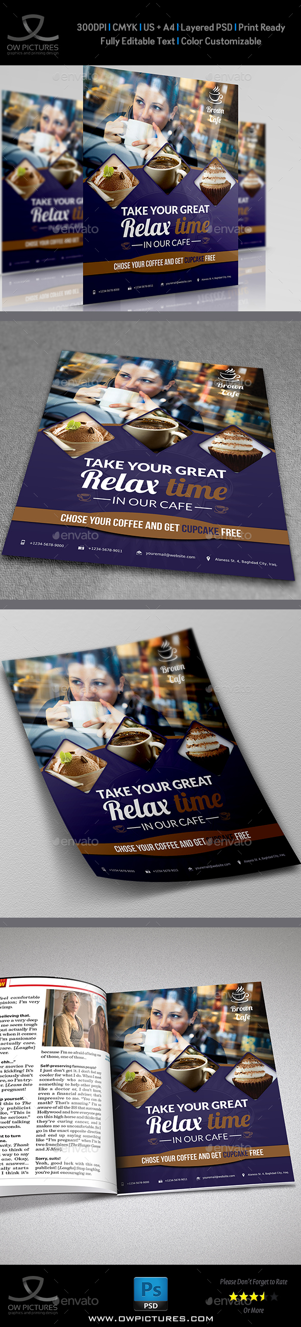 Cafe Restaurant Flyer Template Vol.2 - Flyers Print Templates