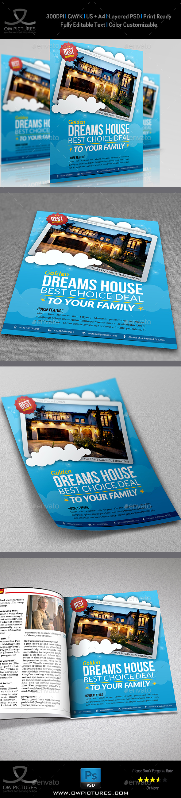 Real Estate Flyer Template Vol.7