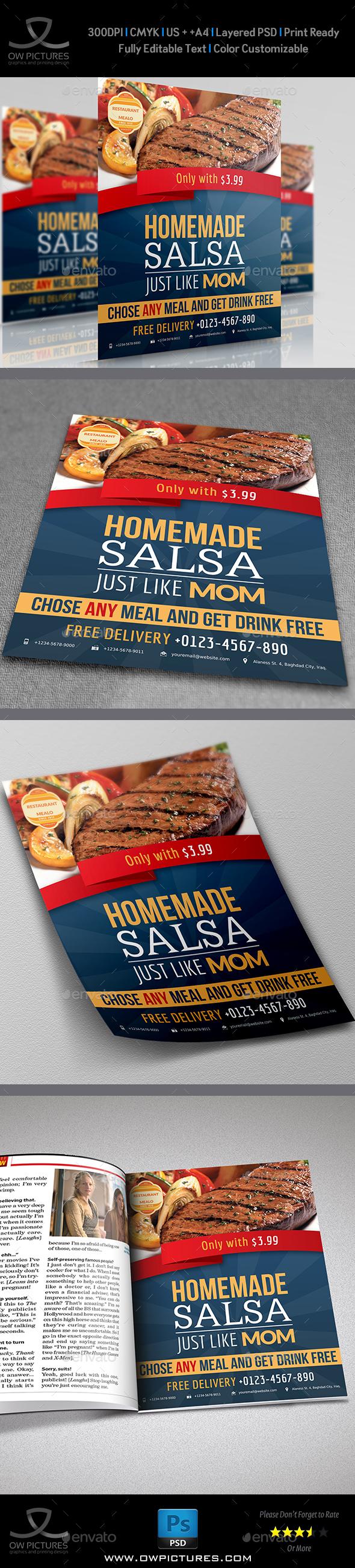 Restaurant Flyer Template Vol.3