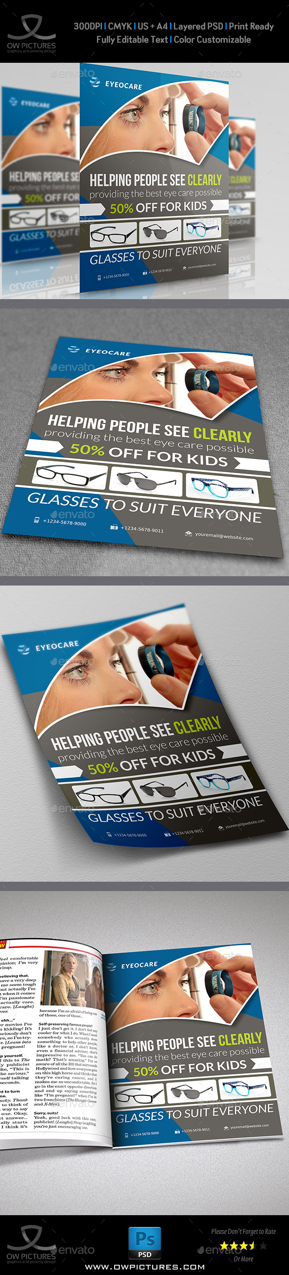 Optometrist & Optician Flyer - Flyers Print Templates