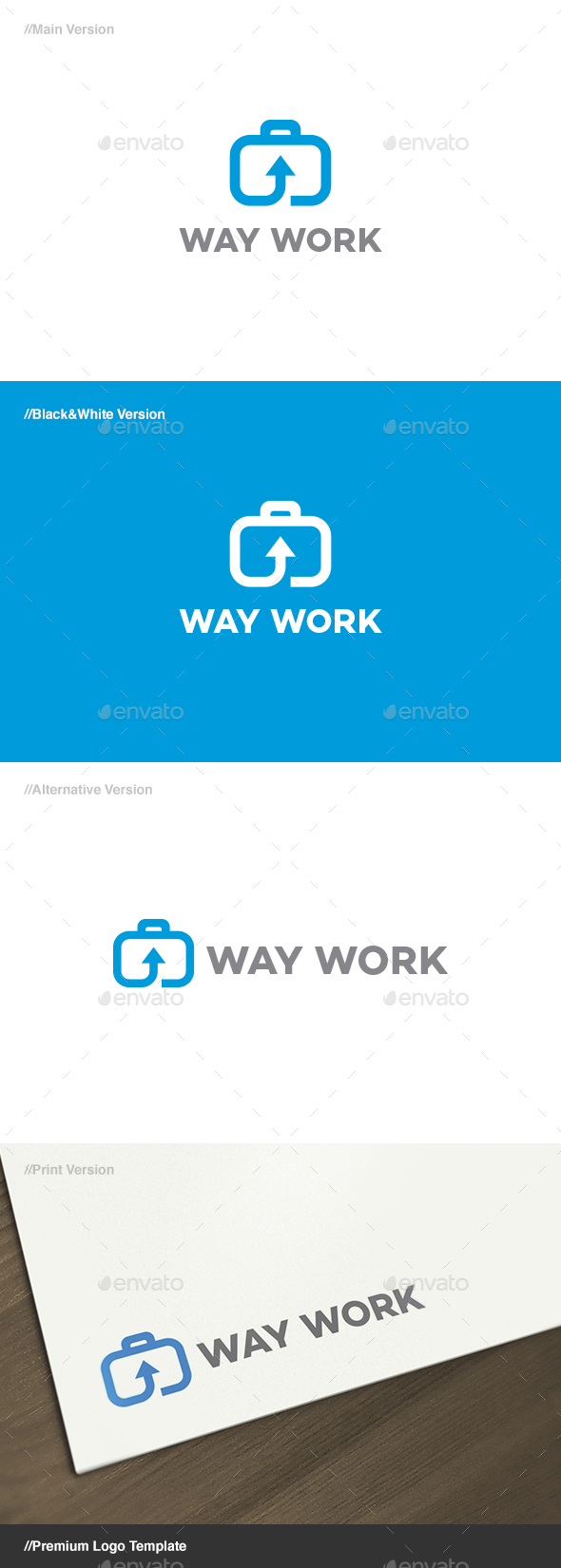 Way Work Logo - Objects Logo Templates