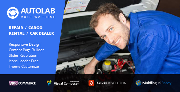 AutoLab – Auto Repair, Rental, Cargo & Dealer WordPress Theme