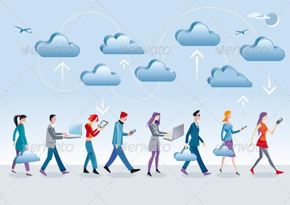 Cloud Computing Walking - Communications Technology