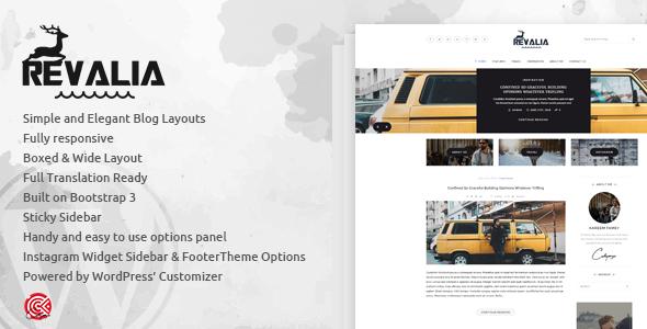 Revalia - Multi-Concept Elegant WordPress Blog Theme