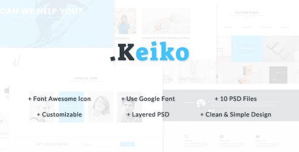 Keiko – Multipurpose Business PSD Template