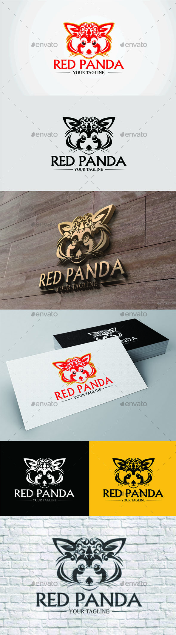 Red Panda - Logo - Animals Logo Templates